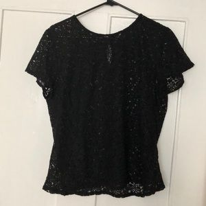 Black Lacy Top